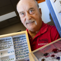 Steve Spomer with Beetle Collections